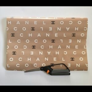 Vintage CHANEL logo collector wrapping paper